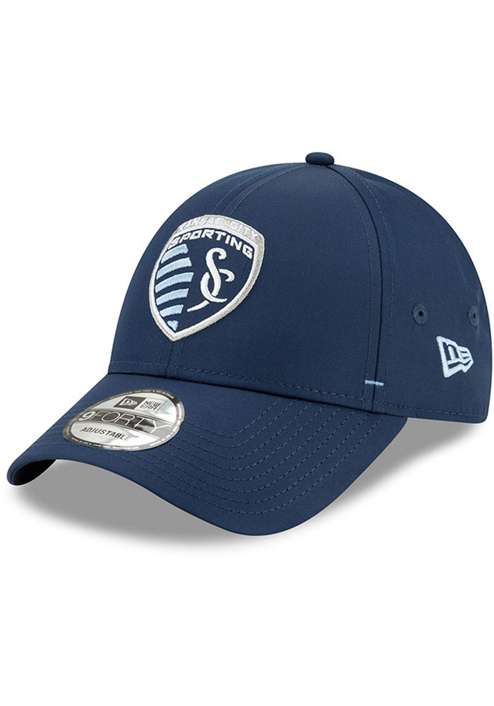 New Era Sporting Kansas City Dash 9FORTY Adjustable Hat - Navy Blue - Image 1