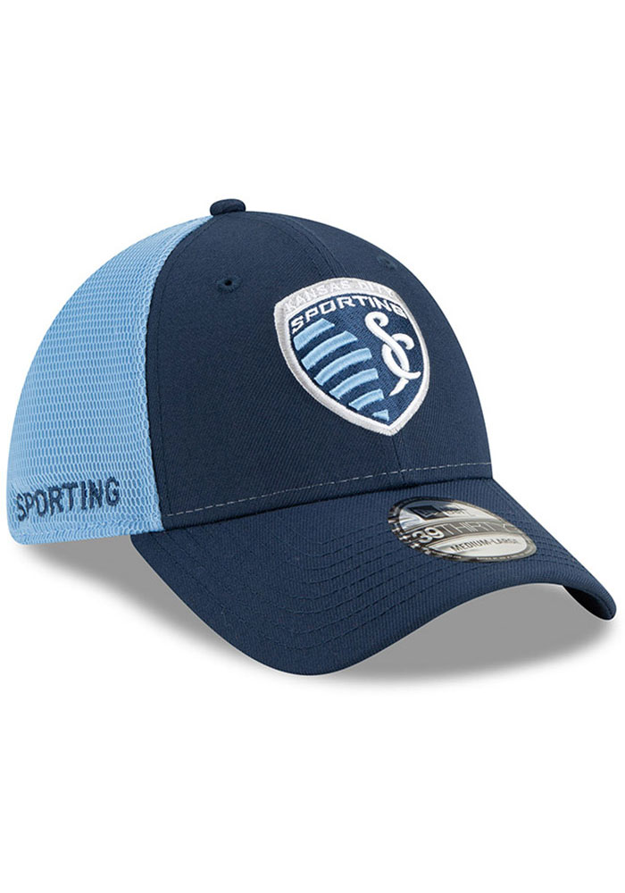 New Era Sporting Kansas City Mens Navy Blue 2T Sided 39THIRTY Flex Hat - Image 2