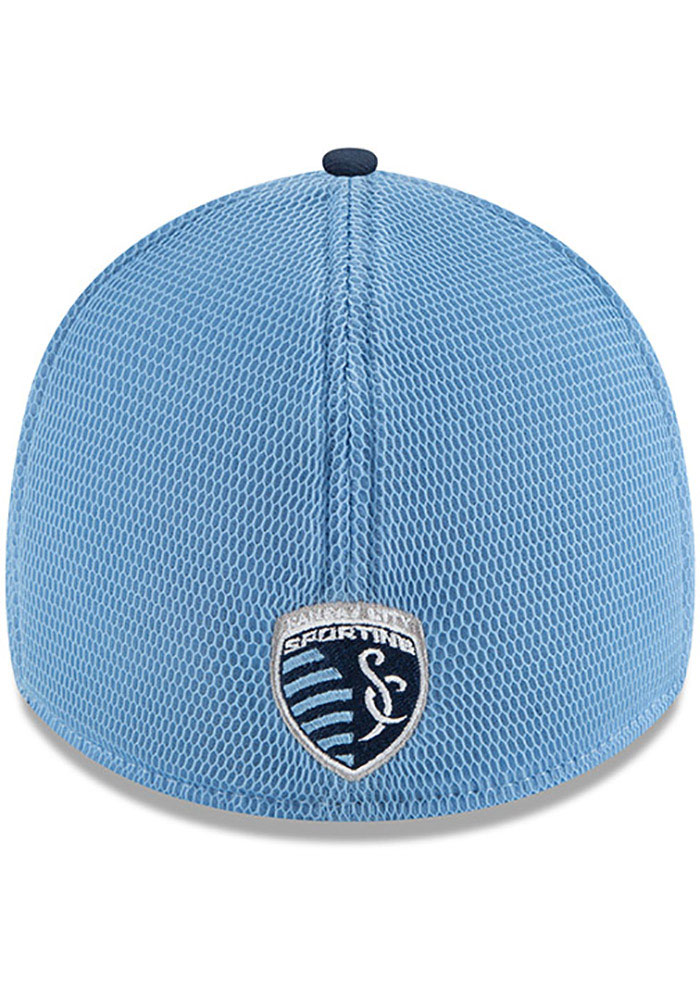 New Era Sporting Kansas City Mens Navy Blue 2T Sided 39THIRTY Flex Hat - Image 5