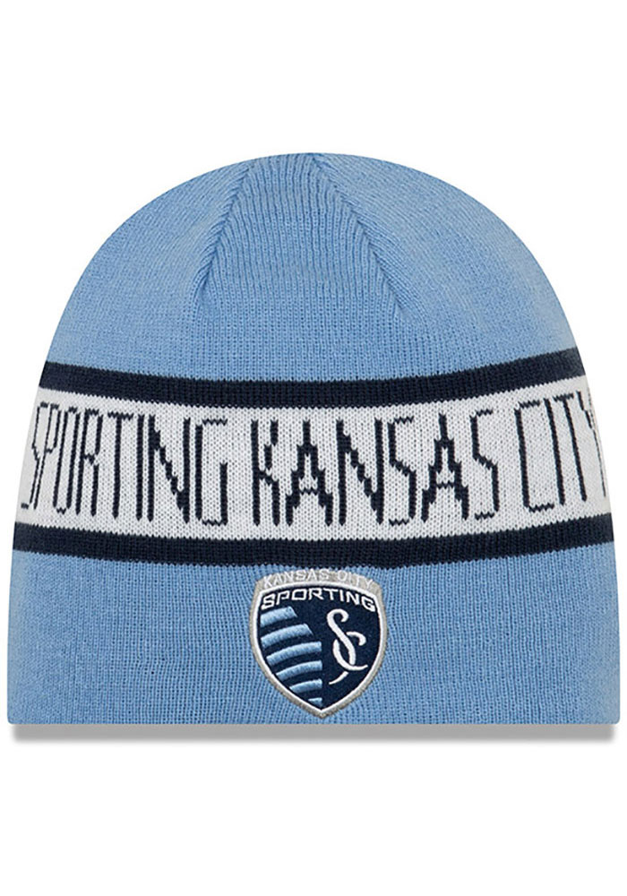 New Era Sporting Kansas City Navy Blue Reverse Knit Hat