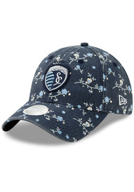 New Era Sporting Kansas City Womens Navy Blue Blossom 9TWENTY Adjustable Hat