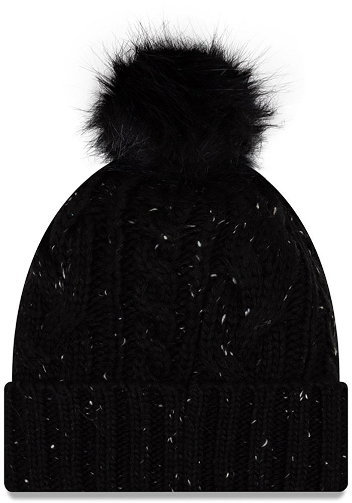 New Era Sporting Kansas City Black Fuzzy Pom Womens Knit Hat - Image 1