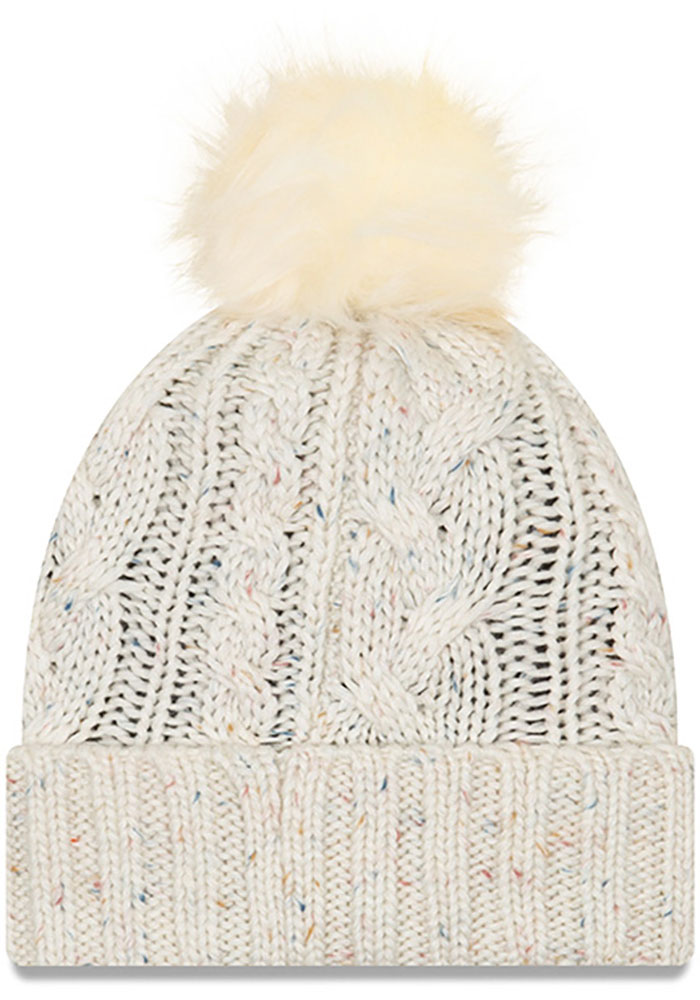 New Era Sporting Kansas City White Fuzzy Pom Womens Knit Hat - Image 2