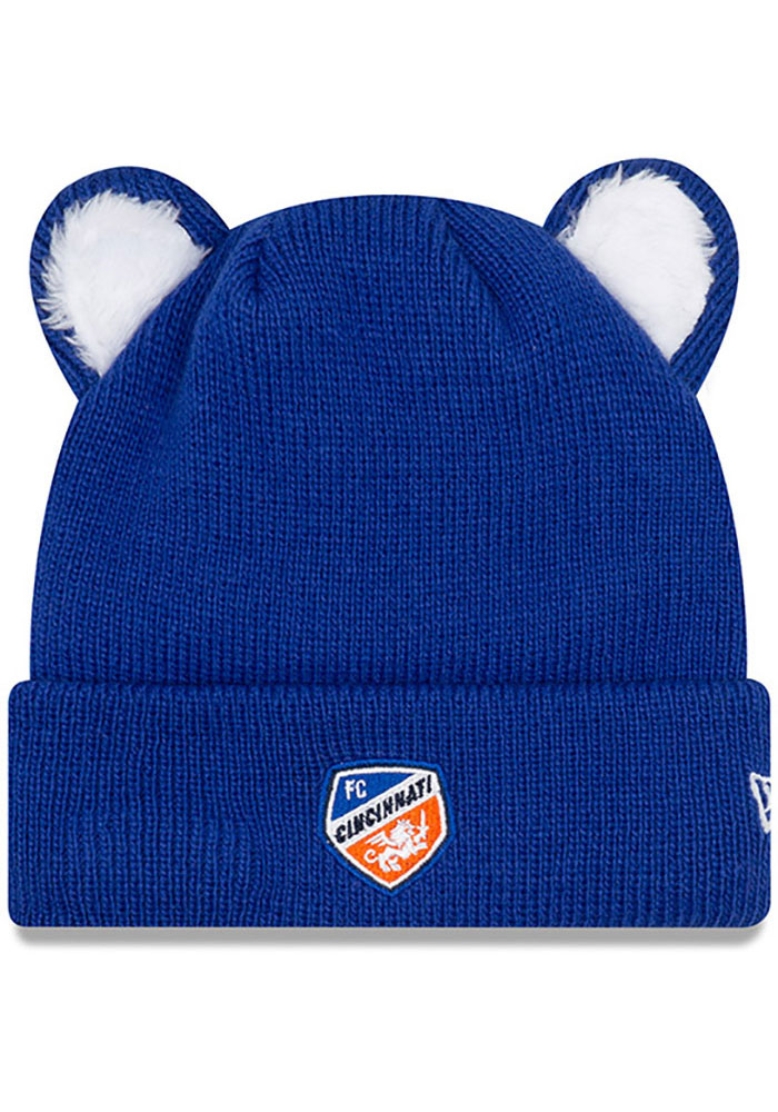 New Era FC Cincinnati Cozie Cutie Baby Knit Hat - Blue