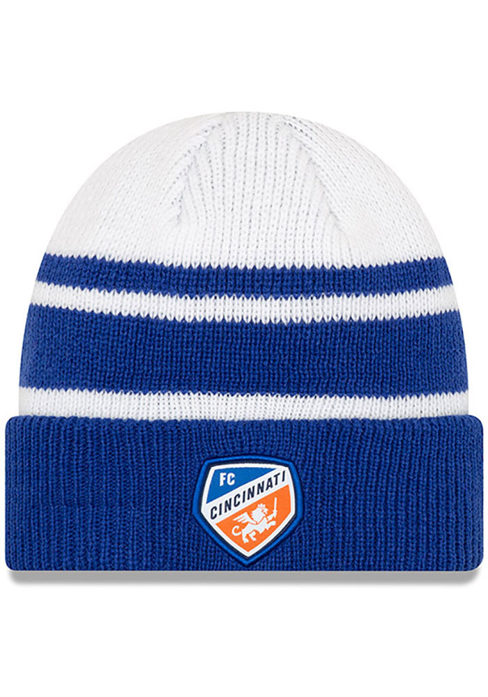 New Era FC Cincinnati Blue Cozy Cuff Knit Hat