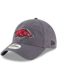 New Era Arkansas Razorbacks Grey JR Core Classic 9TWENTY Youth Adjustable Hat