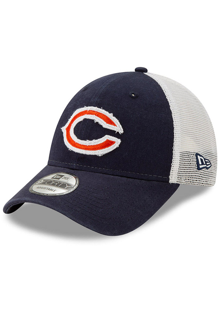 New Era Chicago Bears Navy Blue JR Team Truckered 9TWENTY Youth Adjustable Hat
