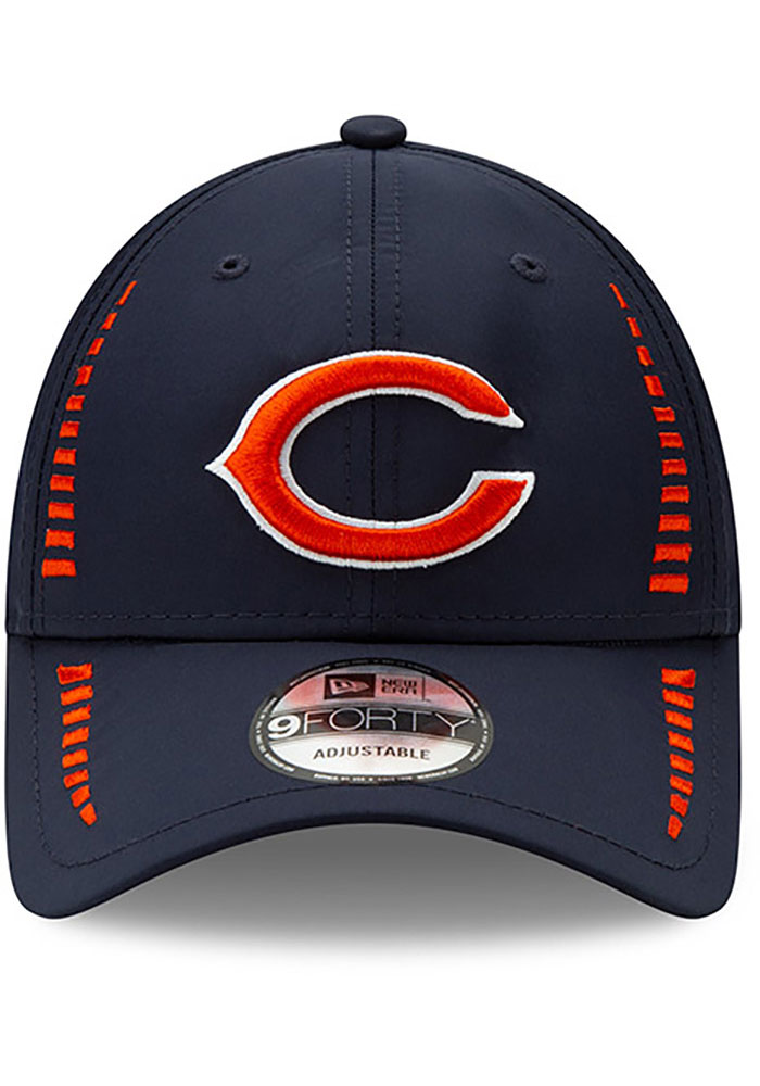 New Era Chicago Bears Speed 9FORTY Adjustable Hat - Navy Blue - Image 2