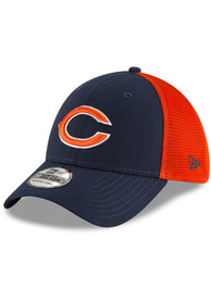 Chicago Bears New Era 2T Sided 39THIRTY Flex Hat - Navy Blue