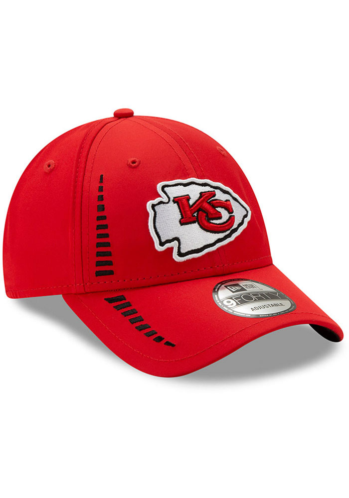 New Era Kansas City Chiefs Speed 9FORTY Adjustable Hat - Red - Image 2
