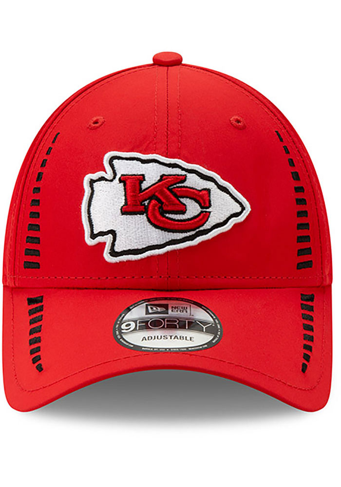 New Era Kansas City Chiefs Speed 9FORTY Adjustable Hat - Red - Image 3