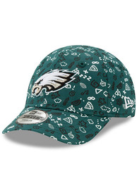 Philadelphia Eagles Baby New Era Pattern 9FORTY Adjustable Hat - Green