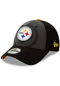 New Era Pittsburgh Steelers Black JR Refect 9FORTY Youth Adjustable Hat