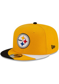 New Era Pittsburgh Steelers Youth Black JR Curve 9FIFTY Snapback Hat