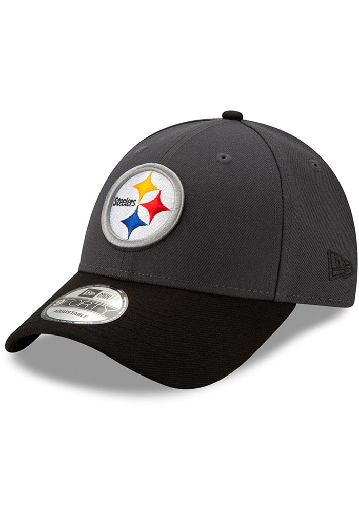 New Era Pittsburgh Steelers League 9FORTY Adjustable Hat - Grey