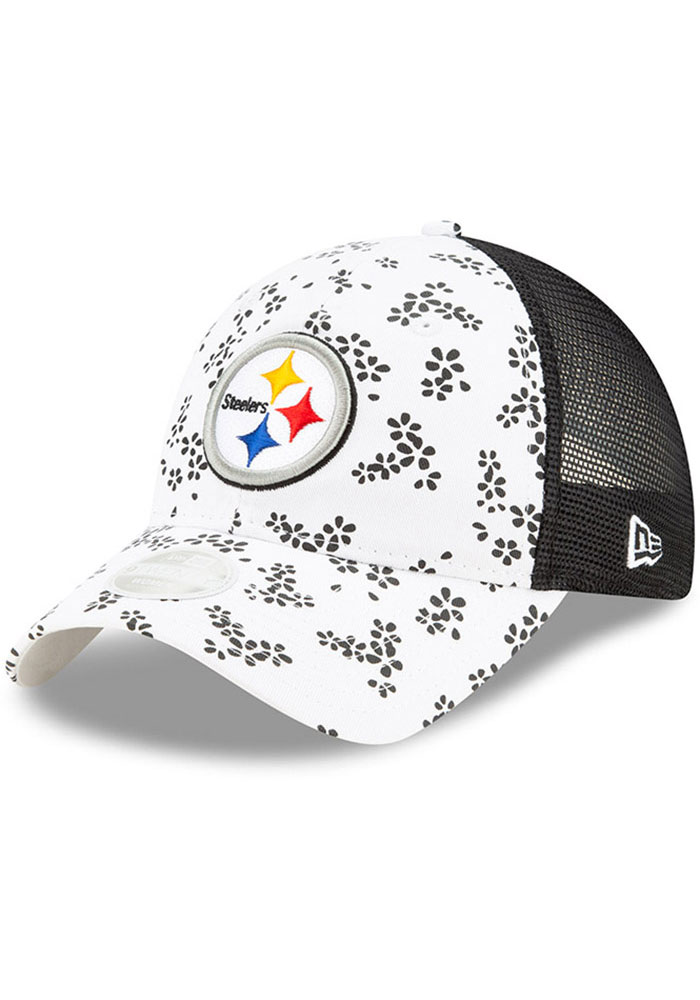 New Era Pittsburgh Steelers White Floral 9TWENTY Womens Adjustable Hat - Image 1