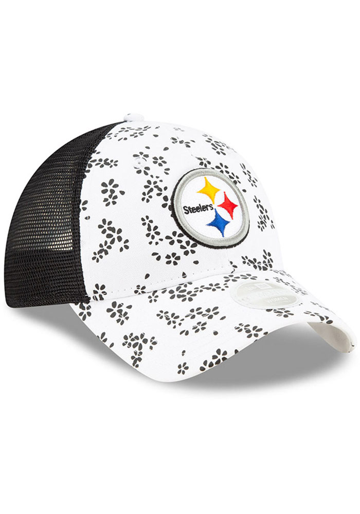 New Era Pittsburgh Steelers White Floral 9TWENTY Womens Adjustable Hat - Image 2