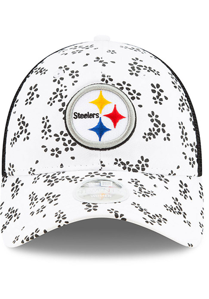 New Era Pittsburgh Steelers White Floral 9TWENTY Womens Adjustable Hat - Image 3