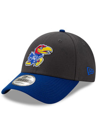 New Era Kansas Jayhawks Grey JR League 9FORTY Youth Adjustable Hat