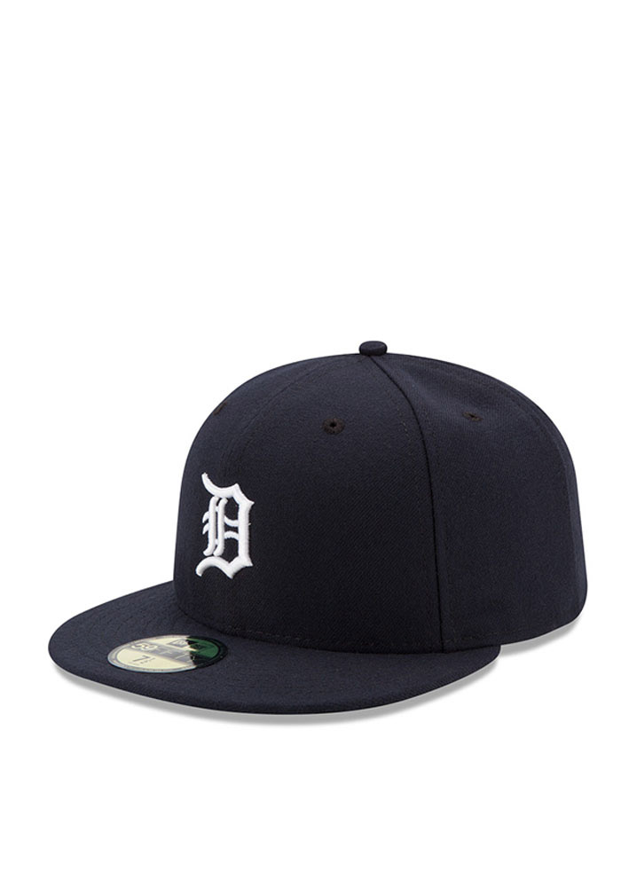 New Era Detroit Tigers Mens Navy Blue Home AC 59FIFTY Fitted Hat - Image 1
