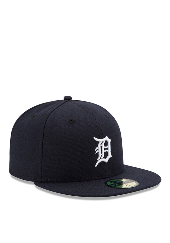 New Era Detroit Tigers Mens Navy Blue Home AC 59FIFTY Fitted Hat - Image 2