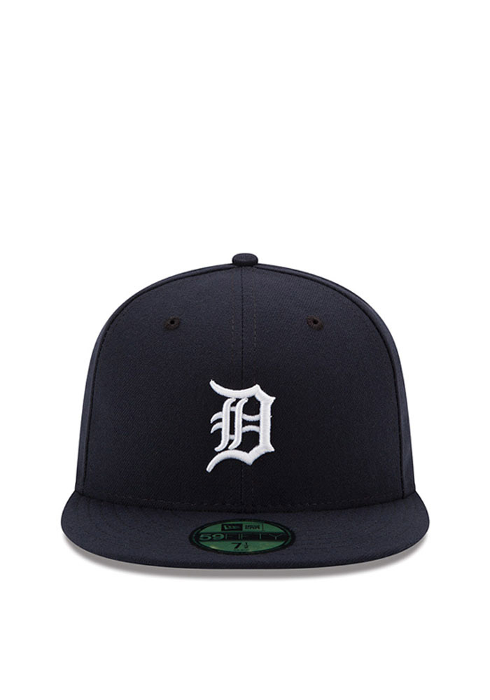 New Era Detroit Tigers Mens Navy Blue Home AC 59FIFTY Fitted Hat - Image 3