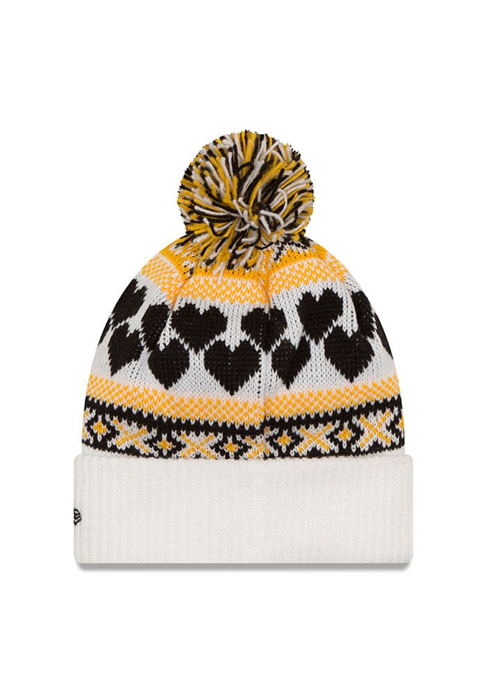 New Era Pittsburgh Pirates White Winter Cutie Womens Knit Hat - Image 2