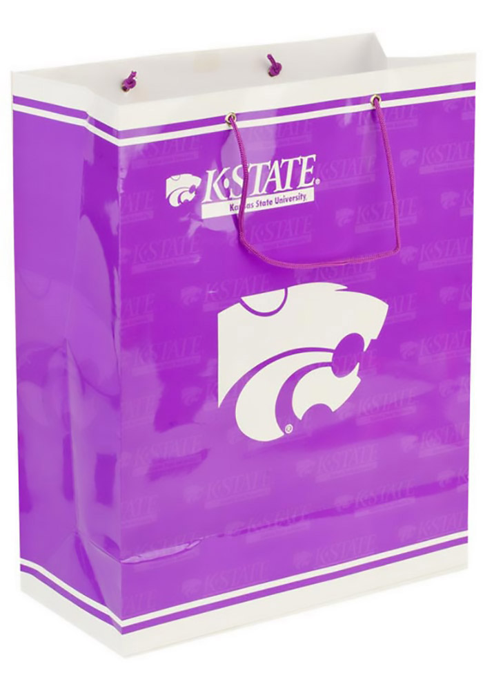 K-State Wildcats Large Purple Gift Bag - Image 1