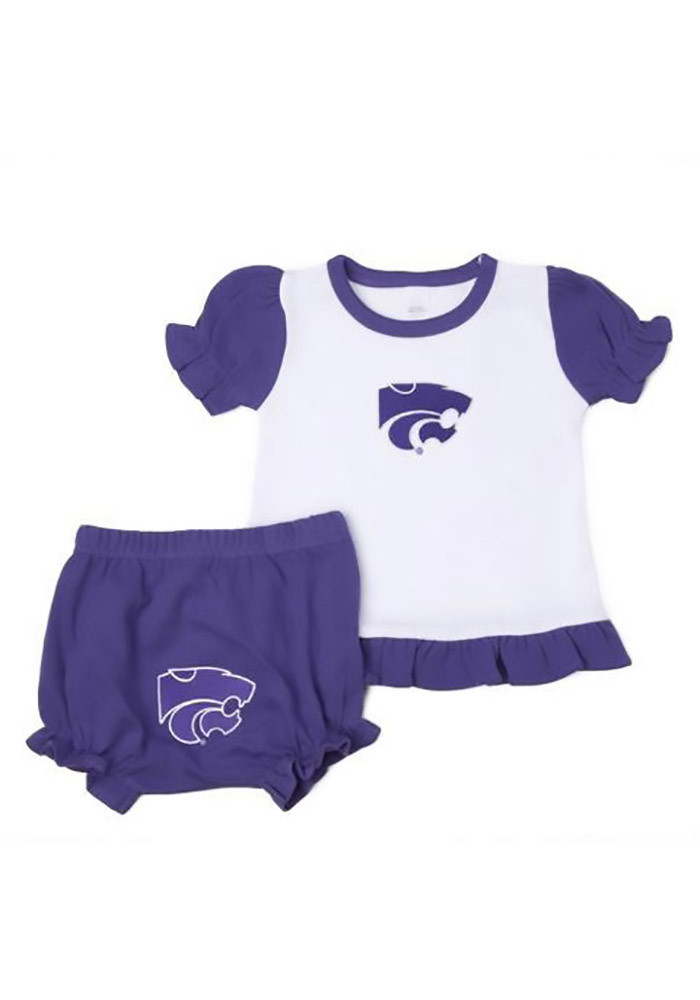 K-State Wildcats Baby Purple Bloomer Set Bloomer - Image 1
