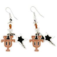 Texas Longhorns Womens Dangle Earrings - Burnt Orange