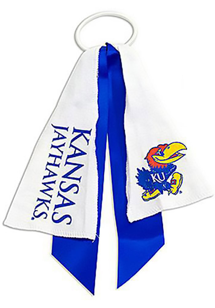 Kansas Jayhawks Ponytail Holder Youth Hair Scrunchie - Image 1
