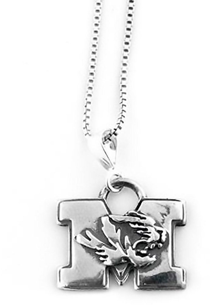 Missouri Tigers Silver Charm Necklace