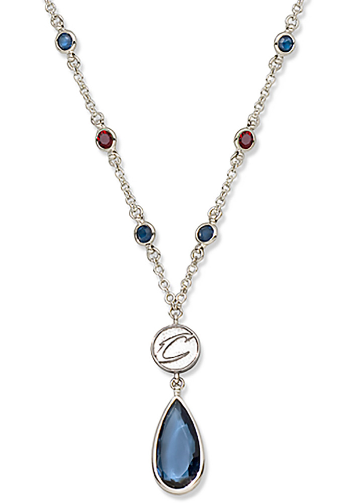 Cleveland Cavaliers Crystal Logo Necklace - Image 1