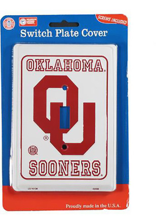 Oklahoma Sooners White Light Switch Cover