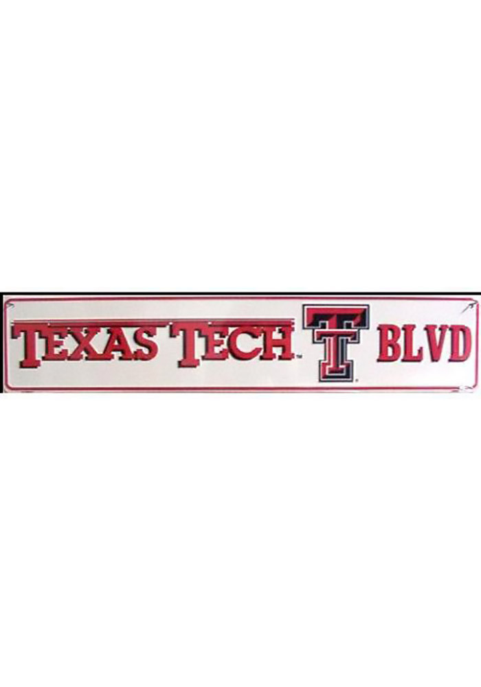 Texas Tech Red Raiders White Street Sign - Image 1