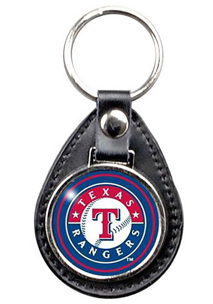 Texas Rangers Leather Keychain - Image 1