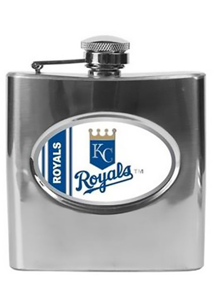 Kansas City Royals 16 oz Stainless Steel Flask - Image 1