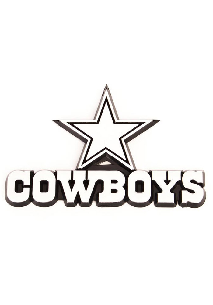 Dallas Cowboys Plastic Car Emblem - Silver - Image 1