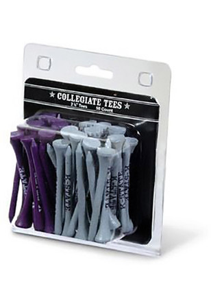 K-State Wildcats 50pk Wood Purple, White Golf Tees