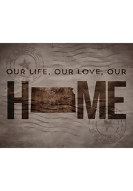 Kansas 11x10 inch Our Life Our Love Our Home Sign