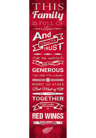 Detroit Red Wings 6x20 inch Family Cheer Sign