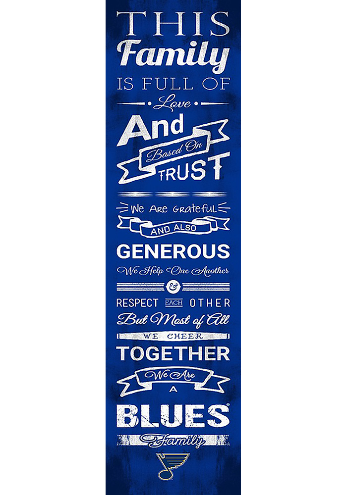 St Louis Blues 6x20 Family Cheer Wall Art - Image 1
