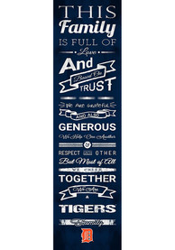 Detroit Tigers 6x20 inch Family Cheer Sign