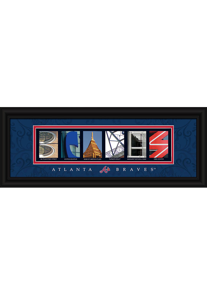 Atlanta Braves 8x20 Letter Art Framed Posters - Image 1