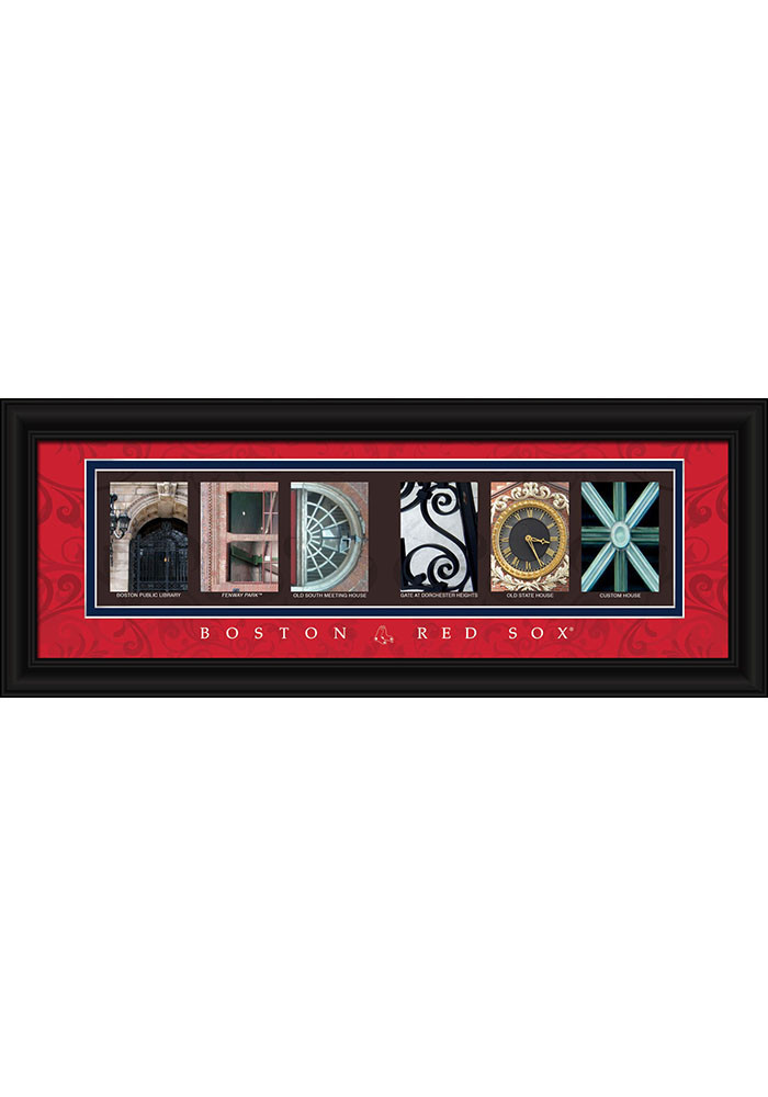 Boston Red Sox 8x20 Letter Art Framed Posters - Image 1