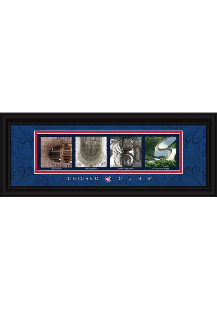 Chicago Cubs 8x20 Framed letter art Framed Posters - Image 1