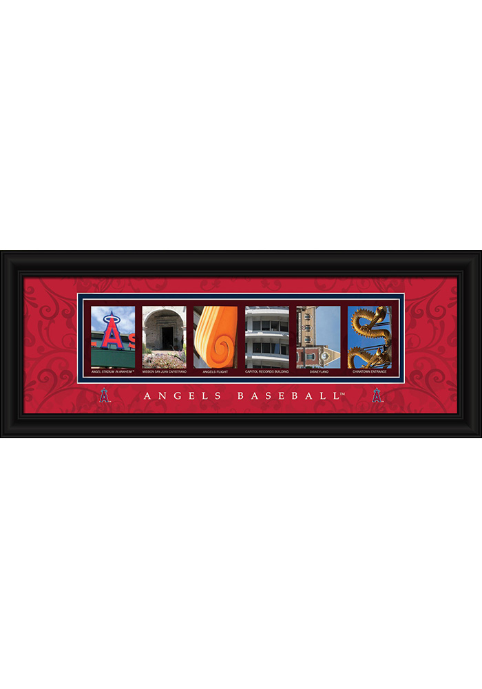Los Angeles Angels 8x20 framed letter art Framed Posters - Image 1