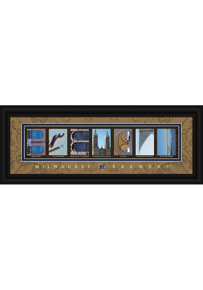 Milwaukee Brewers 8x20 framed letter art Framed Posters - Image 1