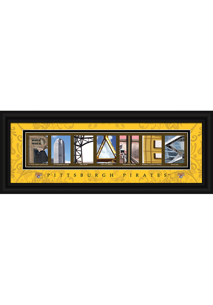 Pittsburgh Pirates 8x20 framed letter art Framed Posters - Image 1