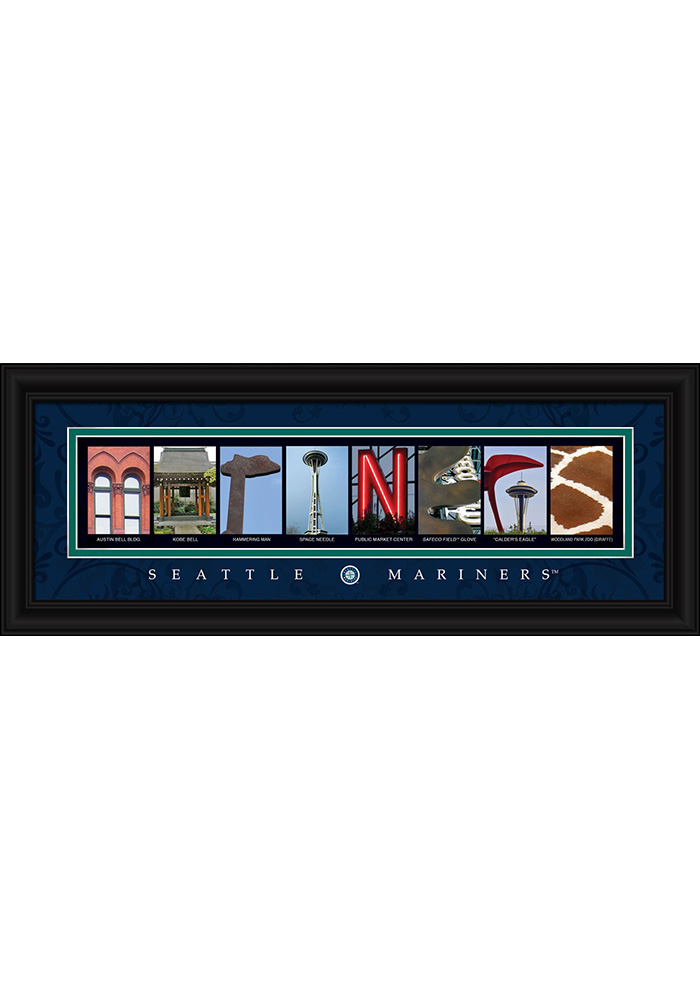 Seattle Mariners 8x20 framed letter art Framed Posters - Image 1